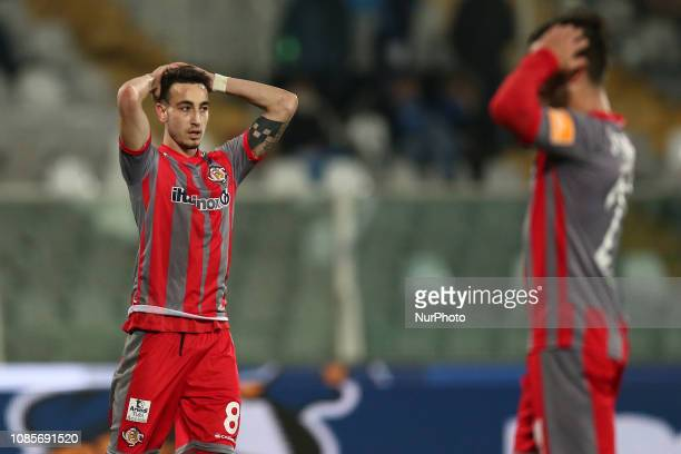 Gaetano Castrovilli US Cremonese disappoint during the Italian Serie B 2018/2019 match between Pescara Calcio 1936 FC and US Cremonese at Stadio...