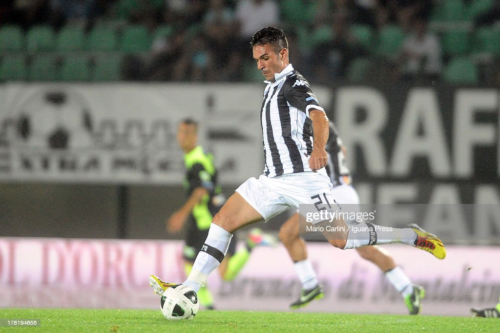 Gaetano D'Agostino # 21 of Ac Siena in action during the Serie B match between AC Siena and FC Crotone at Stadio Artemio Franchi on August 24, 2013 in Siena, Italy.