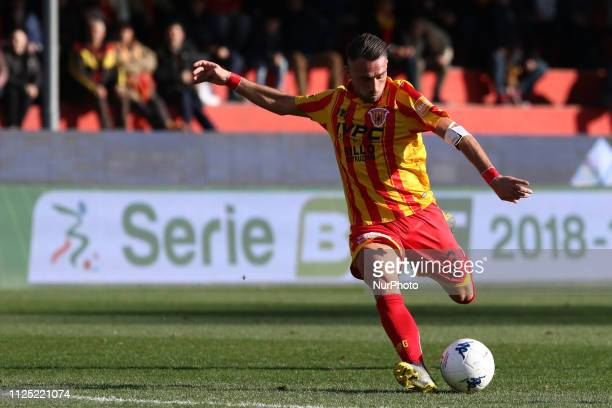 Gaetano Letizia during the derby Italian Serie B football match between Benevento Calcio AS Cittadella at stadium at Cito Vigorito in Benevento Italy...