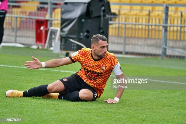 Gaetano Letizia during the Italian Football Championship League BKT Benevento Calcio vs Cosenza Calcio on October 23, 2021 at the Stadio Ciro...