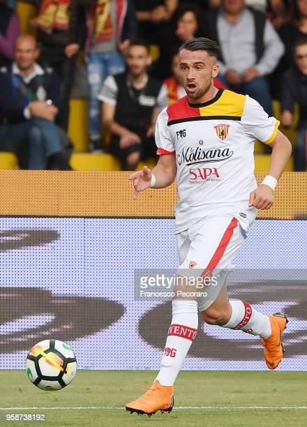Gaetano Letizia of Benevento Calcio in action during the serie A match between Benevento Calcio and Genoa CFC at Stadio Ciro Vigorito on May 12 2018...