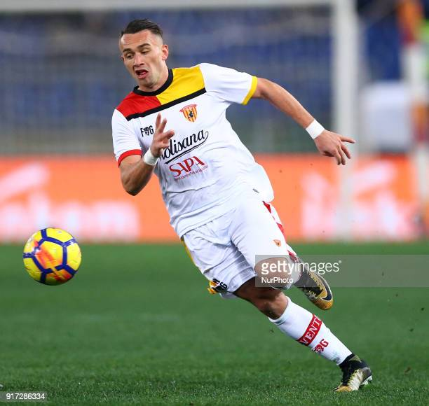 Gaetano Letizia of Benevento during the serie A match between AS Roma and Benevento Calcio at Stadio Olimpico on February 11 2018 in Rome Italy