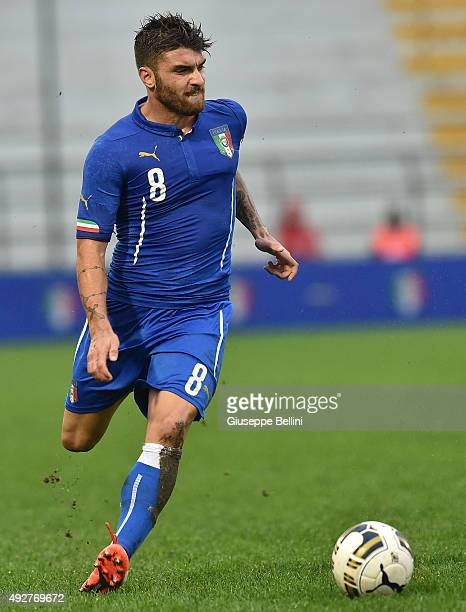 Gaetano Monachello of Italy in action during the 2017 UEFA European U21 Championships Qualifier between Italy and Republic of Ireland at Stadio Romeo...