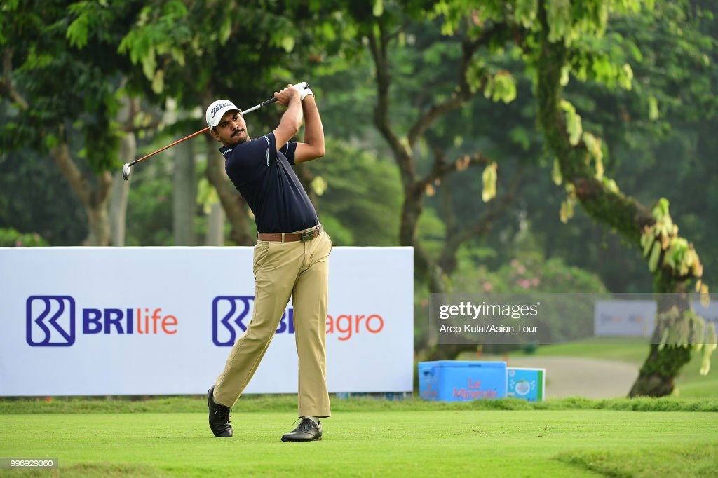 Gaganjeet Bhullar of India pictured during the first round of the Bank BRI Indonesia Open at Pondok Indah Golf Course on July 12, 2018 in Jakarta, Indonesia.