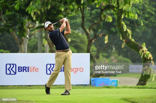 Gaganjeet Bhullar of India pictured during the first round of the Bank BRI Indonesia Open at Pondok Indah Golf Course on July 12 2018 in Jakarta...