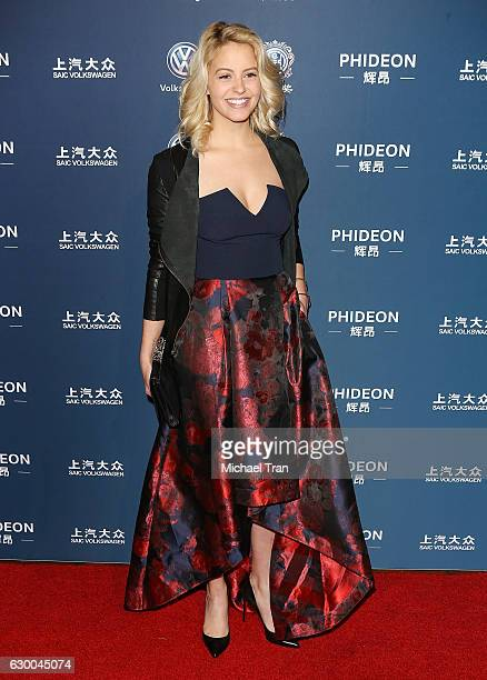 Gage Golightly arrives at the 21st Annual Huading Global Film Awards held at The Theatre at Ace Hotel on December 15 2016 in Los Angeles California