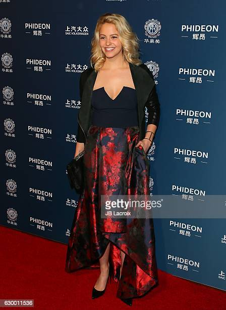 Gage Golightly attends the 21st Annual Huading Global Film Awards at the Theatre at Ace Hotel on December 15 2016 in Los Angeles California