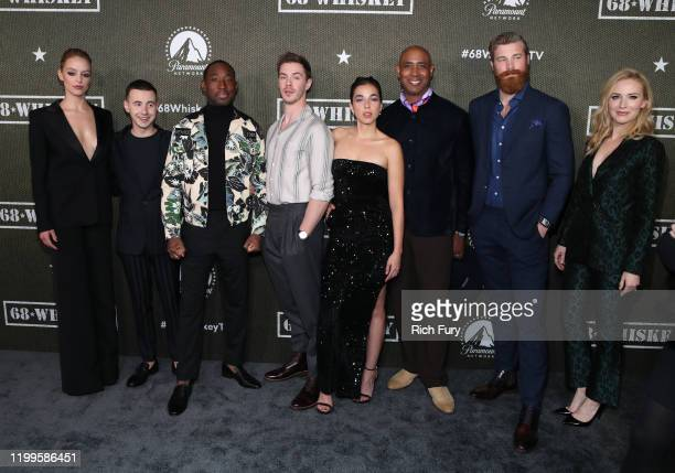 Gage Golightly Nicholas Coombe Jeremy Tardy Sam Keeley Cristina Rodlo Lamont Thompson Derek Theler and Beth Riesgraf attend the premiere of Paramount...