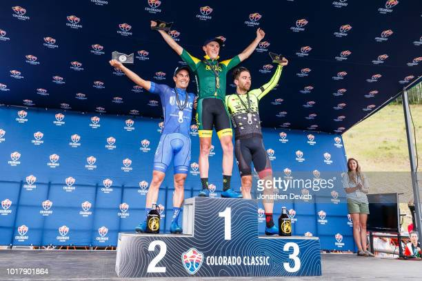 Gage Hect of the United States and the Aevolo Cycling Team in first place with Travis McCabe of the United States and the UnitedHealthcare Pro...