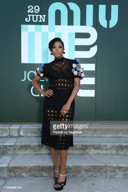 Gagrielle Union attends miu miu club event at Hippodrome d'Auteuil on June 29 2019 in Paris France
