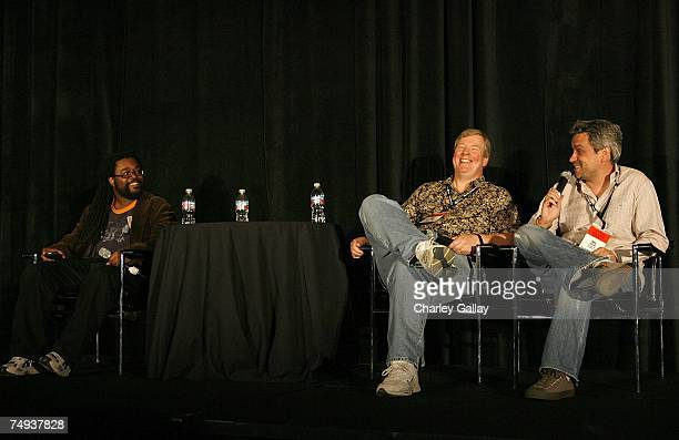 N'Gai Croal General Editor Newsweek Jim Ward Senior VP Lucasfilm and President LucasArts and Neil Young VP GM Electronic Arts Los Angeles participate...