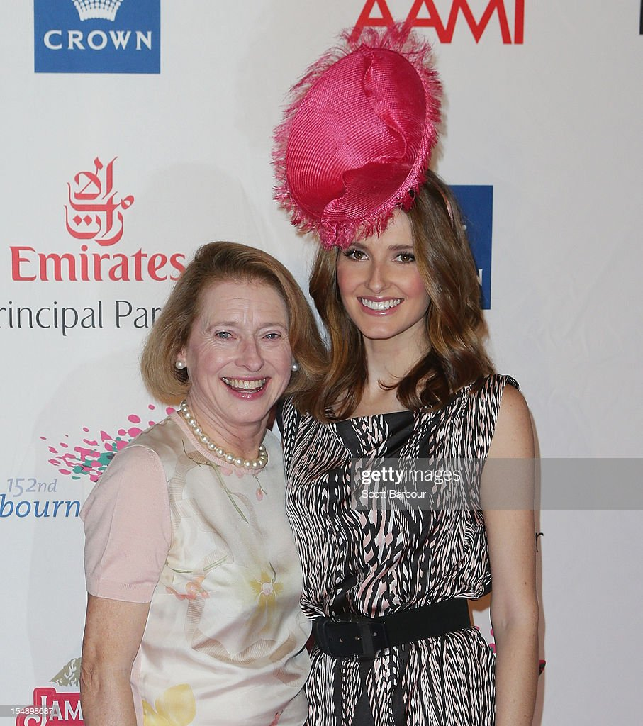 Gai Waterhouse and Kate Waterhouse attend the The 2012 Melbourne Cup Carnival Launch at Crown Palladium on October 29, 2012 in Melbourne, Australia.