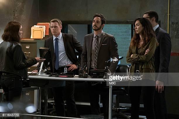 THE BLACKLIST Gaia #81 Episode 404 Pictured Megan Boone as Elizabeth Keen Diego Klattenhoff as Donald Ressler Amir Arison as Aram Mojtabai Mozhan...