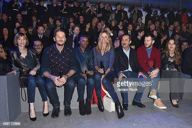 Gaia Bermani Amaral Alvin Filippa Lagerback Nicola Savino Alessandro Cattelan and Ludovica Sauer attend the Trussardi Jeans FW 15/16 event at...