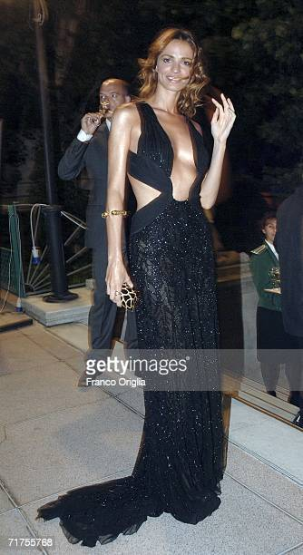 Gaia Bermani Amaral arrives at the party to celebrate the opening ceremony and 'The Black Dahlia' premiere on the first day of the 63rd Venice Film...