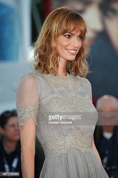 Gaia Bermani Amaral attends a premiere for 'Rabin The Last Day' during the 72nd Venice Film Festival at Sala Grande on September 7 2015 in Venice...