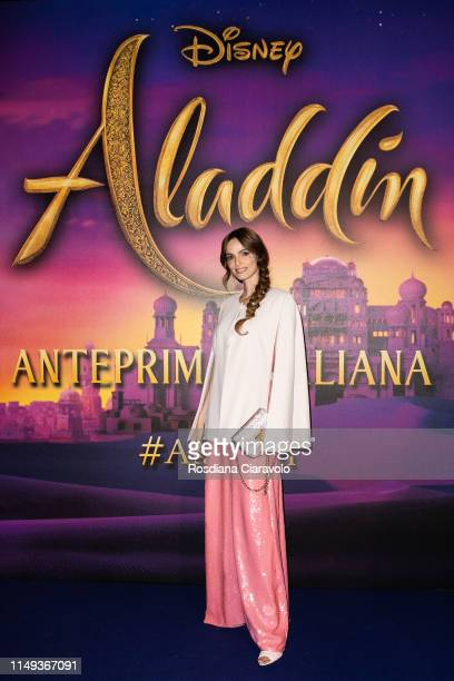 Gaia Bermani Amaral attends the Aladdin photocall and red carpet at The Space Cinema Odeon on May 15 2019 in Milan Italy