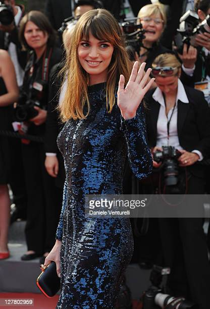 Gaia Bermani Amaral attends the Opening Ceremony and Midnight In Paris Premiere at the Palais des Festivals during the 64th Cannes Film Festival on...