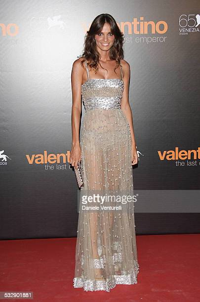 Gaia Bermani Amaral attends the Valentino The Last Emperor VIP Screening during the 65th Venice Film Festival held at the Teatro La Fenice on August...