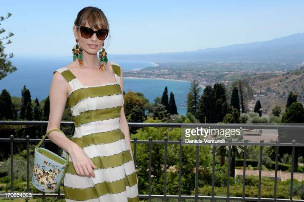 Gaia Bermani Amaral poses during Taormina Filmfest 2013 on June 16 2013 in Taormina Italy