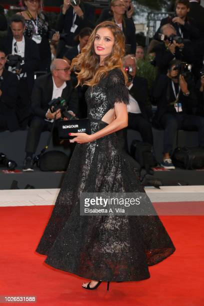 Gaia Bermani Amaral walks the red carpet ahead of the 'At Eternity's Gate' screening during the 75th Venice Film Festival at Sala Grande on September...