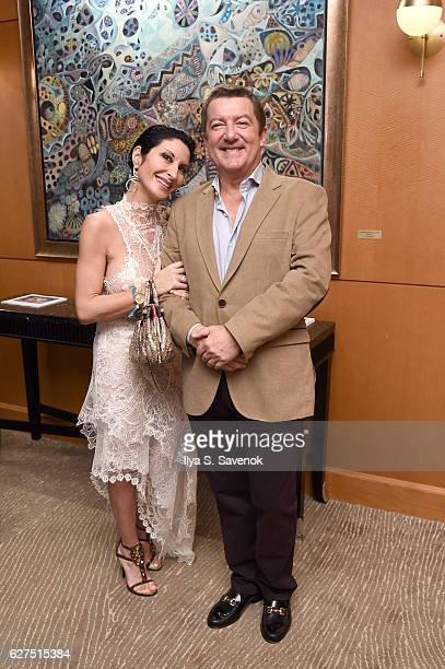 Gaia Borra and Tony Dominguez de Haro attend Underwater Dreams To Life In Color Art Exhibit Featuring Antonio Dominguez De Haro And Romero Britto At...