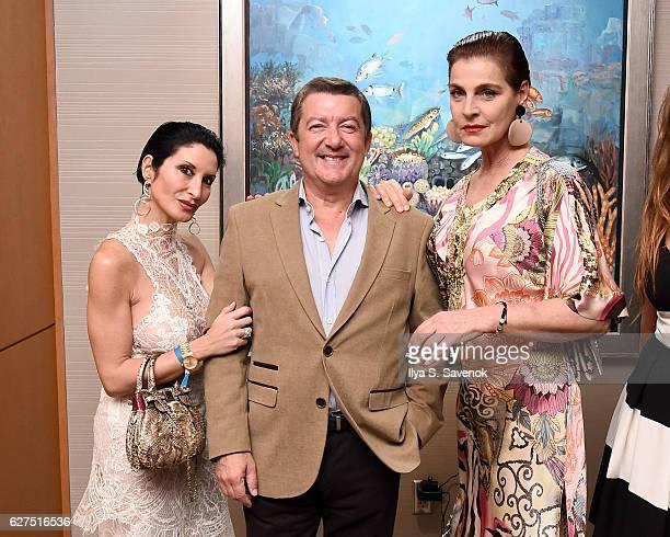 Gaia Borra Tony Dominguez de Haro and Antonia dell'Atte attend Underwater Dreams To Life In Color Art Exhibit Featuring Antonio Dominguez De Haro And...
