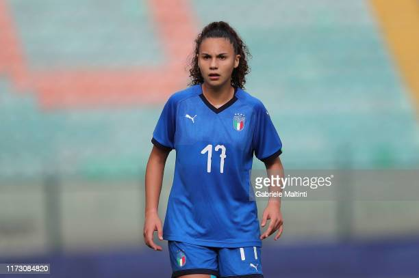 Gaia Di Stefano of Italy U19 Women in action during the UEFA European Women's Under19 Qualifying Round Group 8 match between Italy U19 and Estonia...