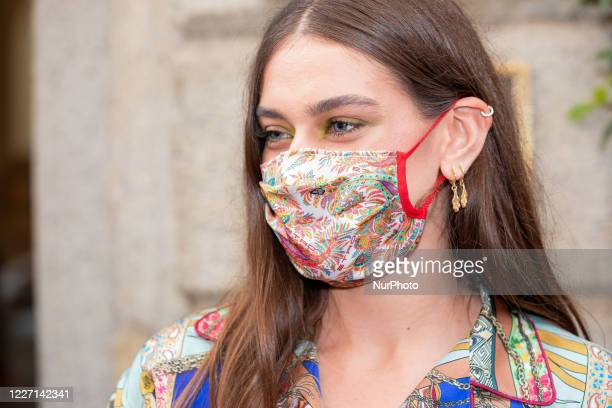 Gaia Gozzi attends the Etro fashion show during Milan Digital Fashion Week on July 15 2020 in Milan Italy
