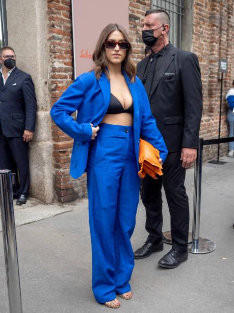 ITA: Celebrity Sightings - Day 5 - Milan Fashion Week - Spring / Summer 2022