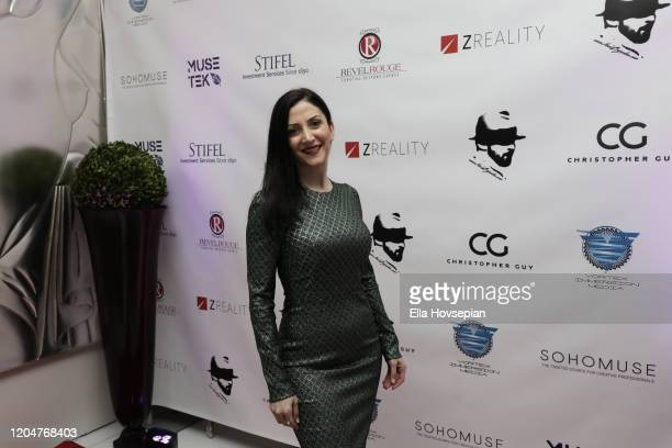 Gaia Melikian attends the LA Launch Event Of SohoMuse at Christopher Guy West Hollywood Showroom on February 07 2020 in West Hollywood California