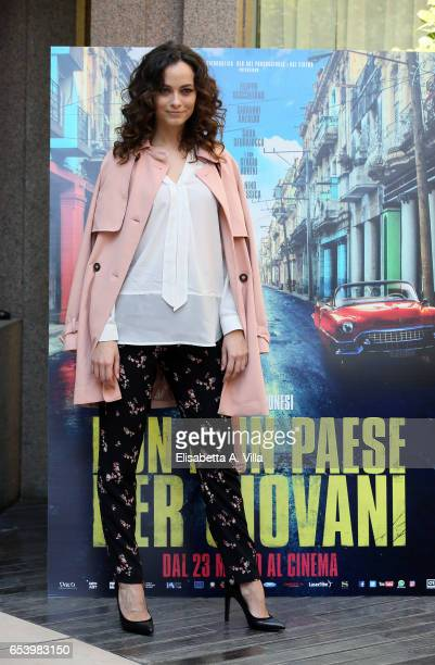 Gaia Messerklinger attends a photocall for 'Non e' Un Paese Per Giovani' at Hotel Visconti Palace on March 16 2017 in Rome Italy