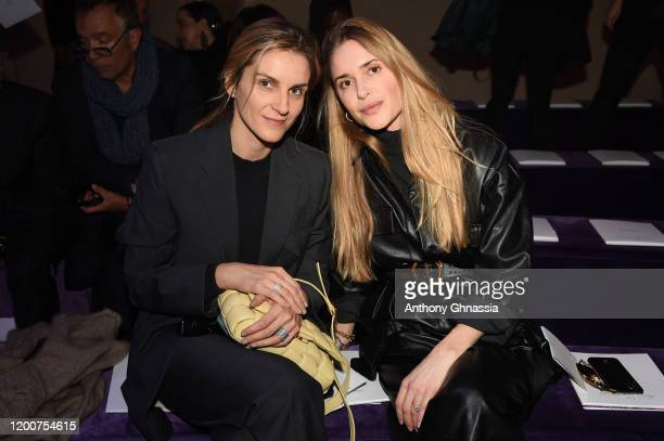 Gaia Repossi and a guest attend the Dior Haute Couture Spring/Summer 2020 show as part of Paris Fashion Week on January 20 2020 in Paris France