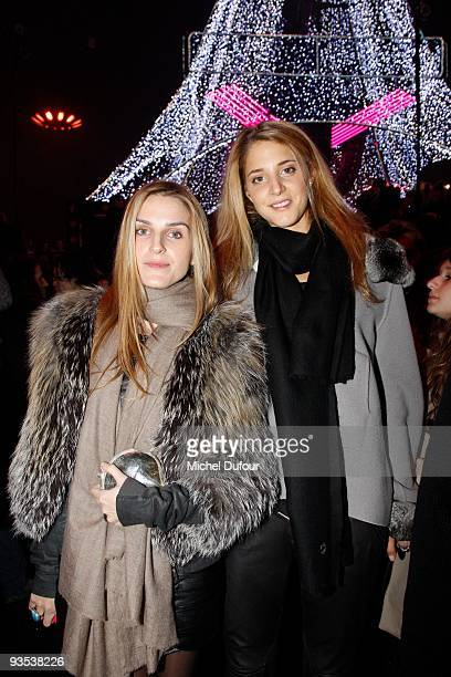 Gaia Repossi and Anna De pahlen attend the Sonia Rykiel HM Underwear Collection Launch Party at Grand Palais on December 1 2009 in Paris France