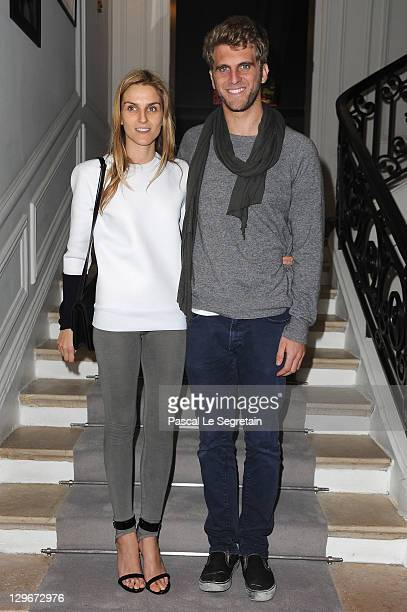 Gaia Repossi and boyfriend Jeremy Everett attend a dinner at Dior fashion house on October 19 2011 in Paris France