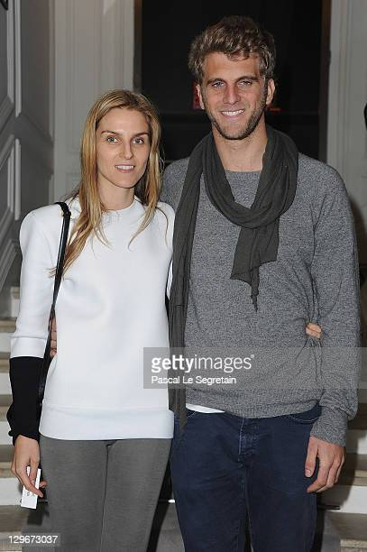 Gaia Repossi and boyfriend Jeremy Everett attend a dinner at Dior fashion house on October 19, 2011 in Paris, France.