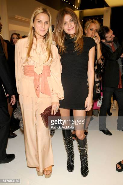 Gaia Repossi and Elisa Sednaoui attend CHANEL Soho Boutique Opening Party at Chanel Soho on September 9, 2010 in New York City.