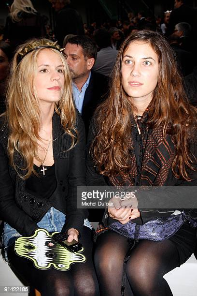 Gaia Repossi and Eugenia Niarchos attend Givenchy Pret a Porter show as part of the Paris Womenswear Fashion Week Spring/Summer 2010 on October 4,...