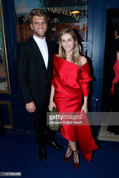 Gaia Repossi and her husband Jeremy Everett attend the Laperouse Mask Ball on the occasion of the inauguration evening of the Laperouse Restaurant as...
