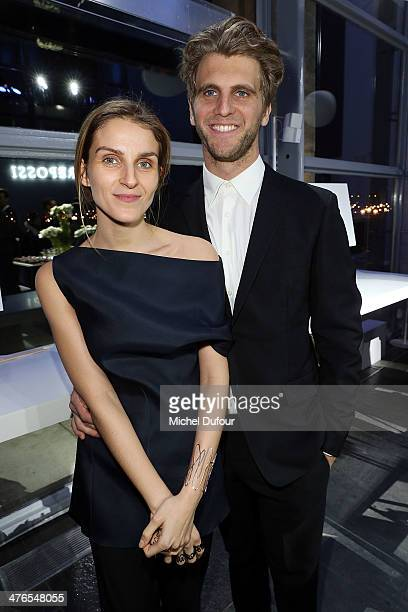 Gaia Repossi and Jeremy Everett attend the Gaia Repossi's Jewelry Collection At Jeu de Paume as part of the Paris Fashion Week Womenswear Fall/Winter...
