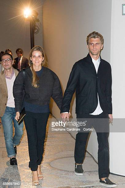 Gaia Repossi and Jeremy Everett attend the Yves Saint Laurent Spring/Summer 2013 show as part of Paris Fashion Week, at Grand Palais in Paris.