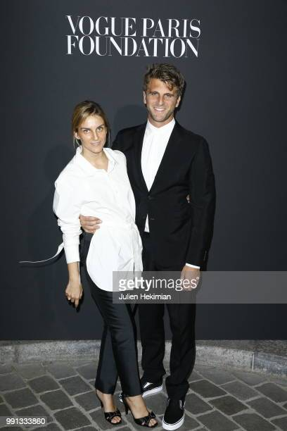 Gaia Repossi and Jeremy Everett attend Vogue Foundation Dinner Photocall as part of Paris Fashion Week Haute Couture Fall/Winter 20182019 at Musee...