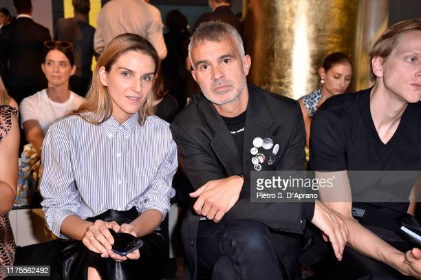 Gaia Repossi and Willy Vanderperre attend Prada Spring/Summer 2020 Womenswear Fashion Show on September 18, 2019 in Milan, Italy.