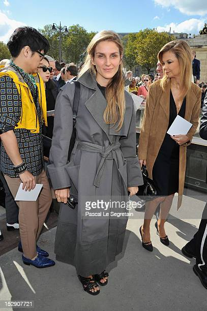 Gaia Repossi arrives at the Christian Dior Spring / Summer 2013 show as part of Paris Fashion Week on September 28 2012 in Paris France