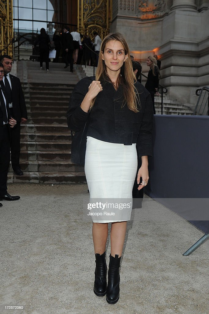 Gaia Repossi arrives at 'The Glory Of Water' : Karl Lagerfeld's Exhibition Dinner at Fendi on July 3, 2013 in Paris, France.