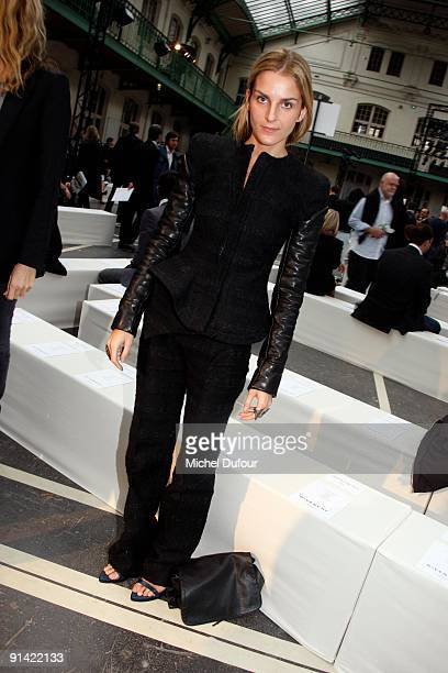 Gaia Repossi attends Givenchy Pret a Porter show as part of the Paris Womenswear Fashion Week Spring/Summer 2010 on October 4, 2009 in Paris, France.