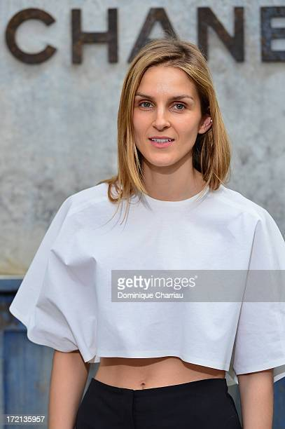 Gaia Repossi attends the Chanel show as part of Paris Fashion Week Haute Couture Fall/Winter 20132014 at Grand Palais on July 2 2013 in Paris France