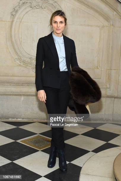 Gaia Repossi attends the Christian Dior Haute Couture Spring Summer 2019 show as part of Paris Fashion Week on January 21 2019 in Paris France
