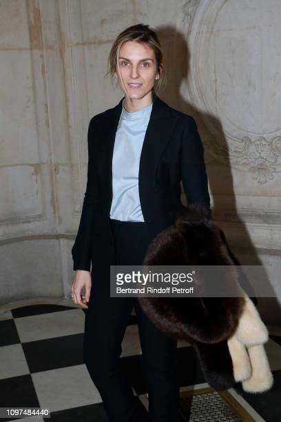 Gaia Repossi attends the Christian Dior Haute Couture Spring Summer 2019 show as part of Paris Fashion Week on January 21, 2019 in Paris, France.
