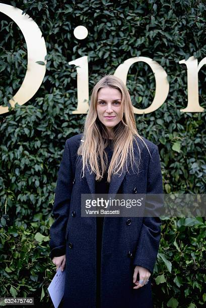 Gaia Repossi attends the Christian Dior Haute Couture Spring Summer 2017 show as part of Paris Fashion Week at Musee Rodin on January 23, 2017 in...